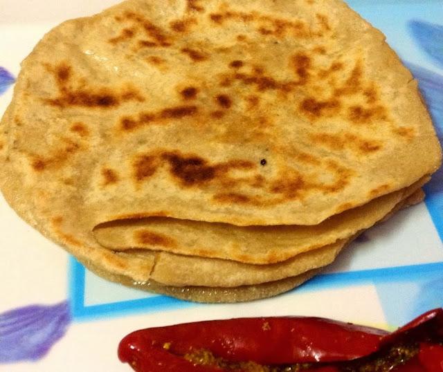 Aijwain Lachha Paratha (Layered flatbread with carom seeds)