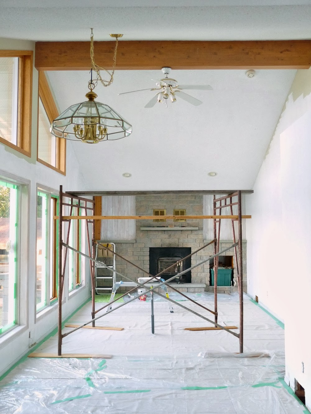 Pine wood ceiling beam