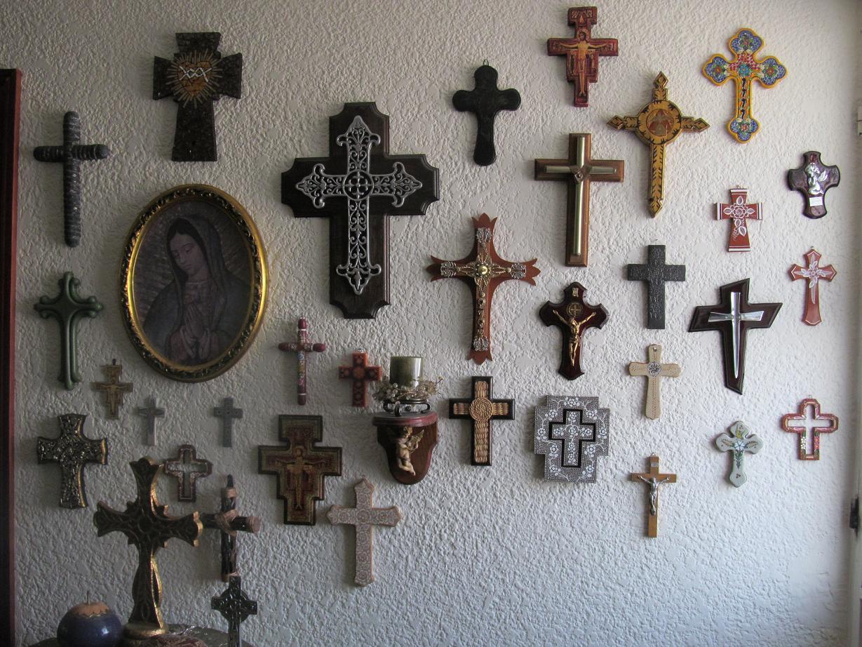 Artesan as caf arte religioso en la decoraci n mexicana - Como revestir una pared ...