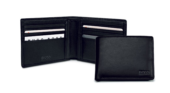 Hugo boss tiena menswear wallet beautique avenue made of the finest cowhide this wallet offers enough space for 10 credit cards 2 open slots and 2 bill compartments the embossed logo on the front and colourmoves