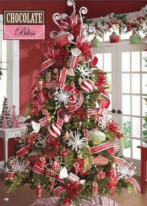 Cute pinterest christmas trees for Xmas tree decoration ideas