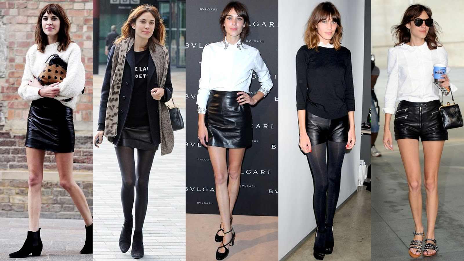 Adding to her edgy androgynous style is sleek black leather, in the ...