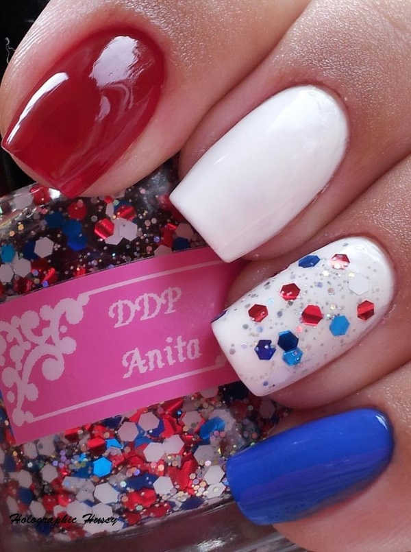4th of july nail art designs everything about fashion today. Black Bedroom Furniture Sets. Home Design Ideas