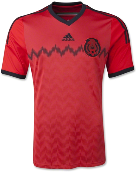 Jersey Mexico Away Red World Cup 2014