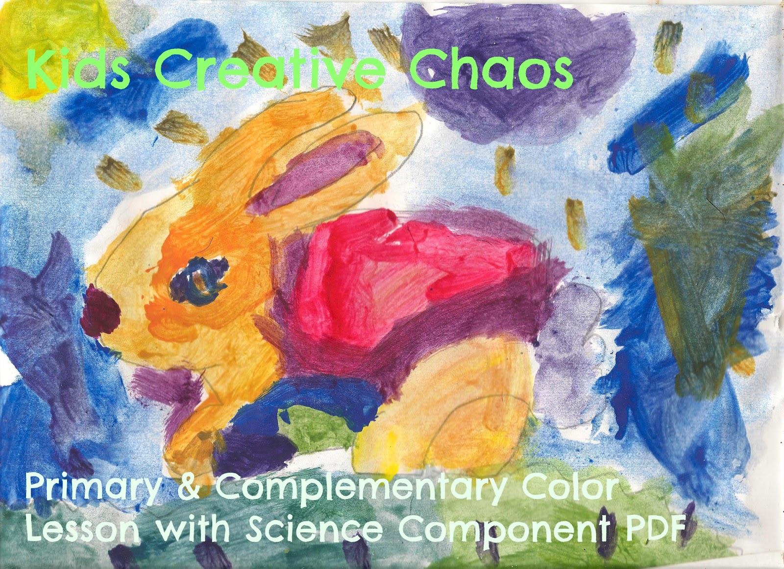Color wheel art projects for kids - Paint A Primary And Complementary Color Bunny Elementary Art