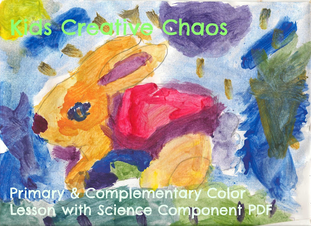 Paint a Primary and Complementary Color Bunny Elementary Art