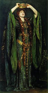 Perhaps the inspiration of the Empress Theodora Alice Alquist Portrait