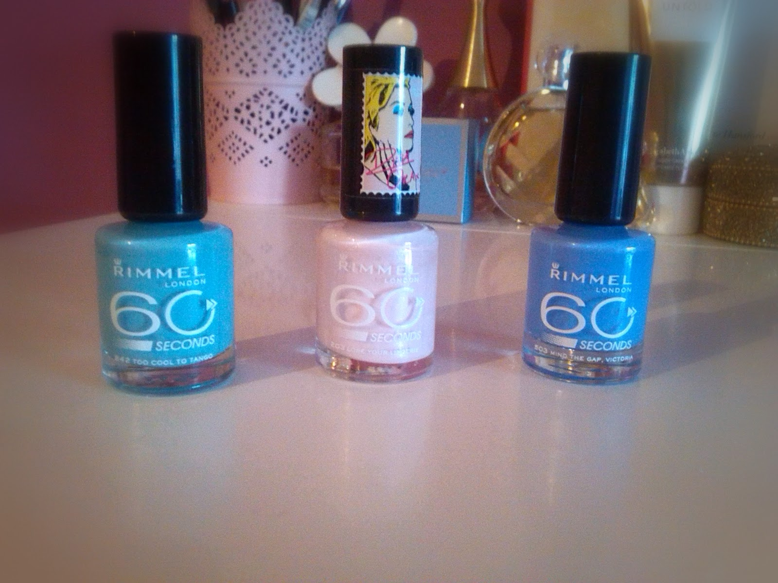 Picture of 3 bottles of Rimmel Nail Varnish