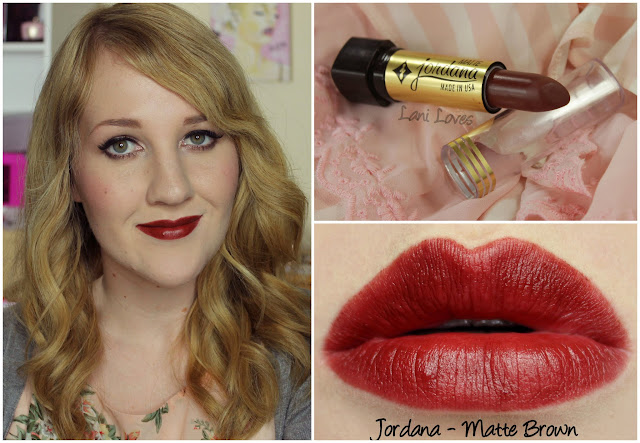 Jordana Matte Brown lipstick swatch