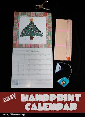 Easy Handprint Calendar; STEMmom.org