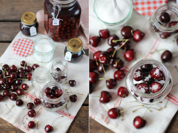 ... food and culture: Drunken cherries - make your own cherry brandy