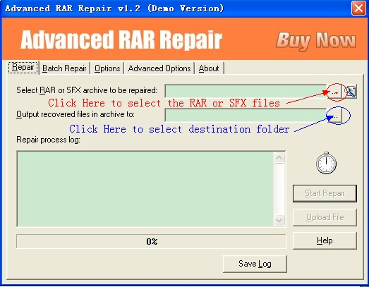Advanced RAR Repair Trial Version Snapshot