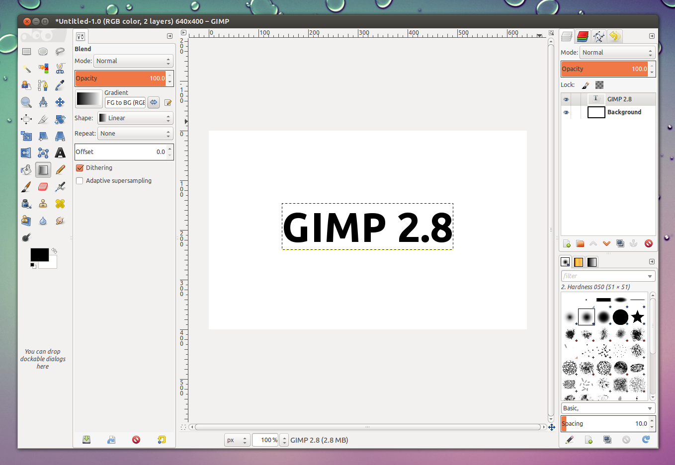 how to open gimp layer dock