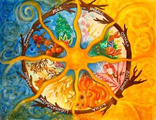rappresentazione del calendario celtico