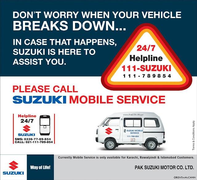 Suzuki Pakistan Mobile service van