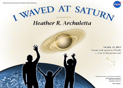 Wave At Saturn Certificate