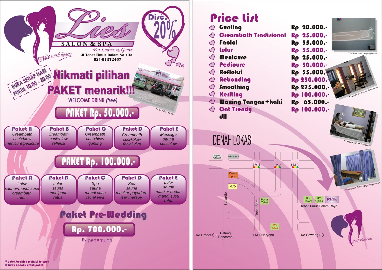 LIES SALON AND SPA (PAKET PERAWATAN PREWEDDING MURAH