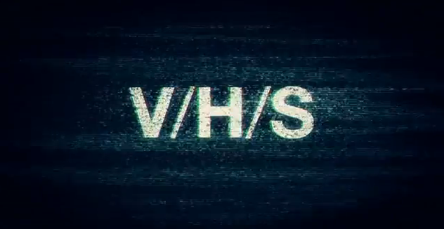 VHS 2012 anthology horror film title in found footage format under Magnet Releasing and The Collective