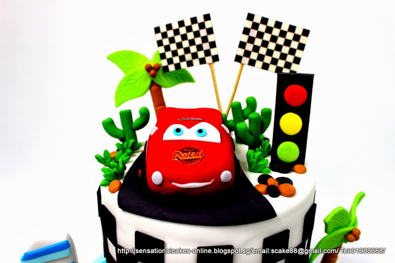 The Sensational Cakes SPORTS CAR RACING THEME BIRTHDAY 3D CAKE
