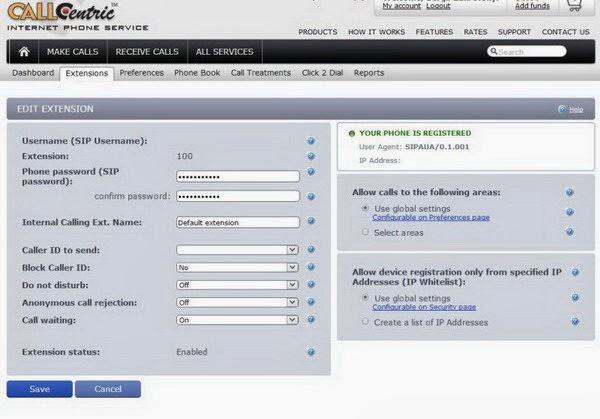 SIP phone registration