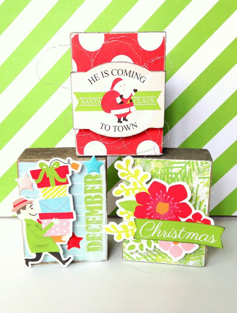 Little nugget creations wooden christmas blocks for Wooden blocks craft supplies