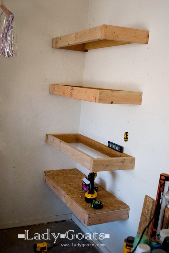 Diy Garage Shelves 2x4 Operation organize garage: one