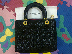 Christian Dior Lady Dior leather Tote Bag(SOLD)