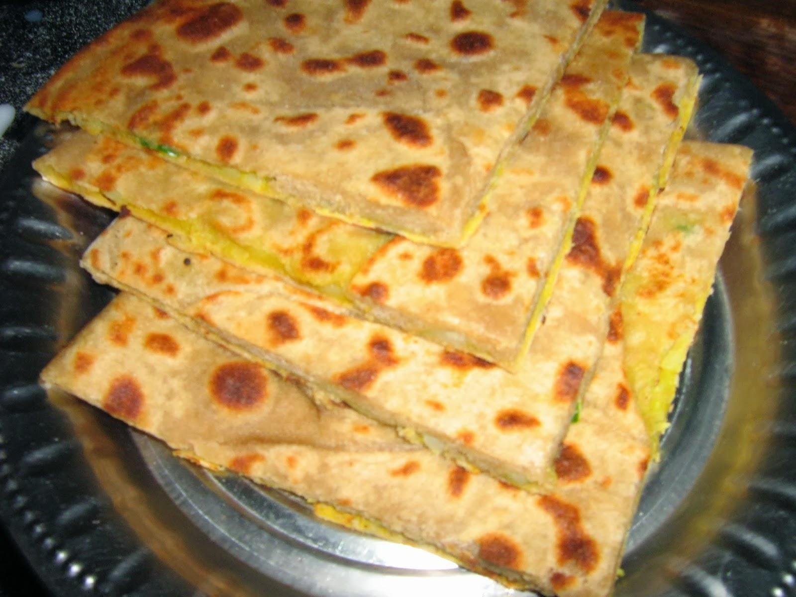 paratha indian bread with potato stuffing indian aloo paratha potato ...