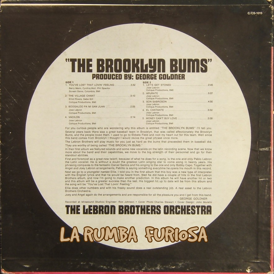 Lebron Brothers Orchestra The Brooklyn Bums