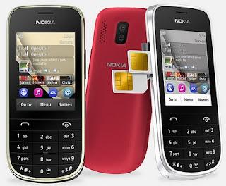 Gambar Nokia Asha 202 Dual SIM Murah Layar 2.4 inch