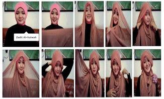 Kumpulan Gambar Tutorial Cara Pakai Hijab Modern Syar'i