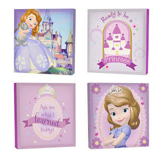 Disney Sofia The First Canvas Wall Art 4 Piece