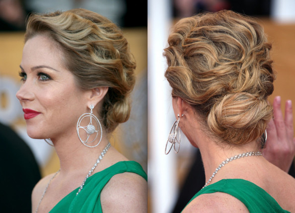 prom hairstyles for medium hair curly. prom updos with bangs 2011.
