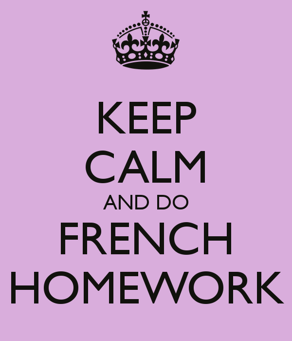 I need to do my homework in french