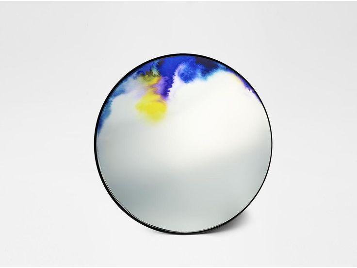 spejl med akvarel og vandfarver