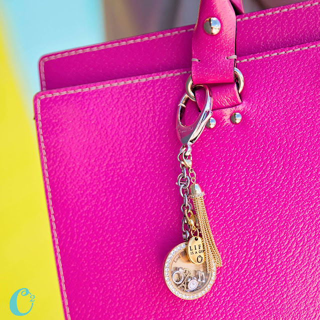 Origami Owl Bag Clip and Key Chain available at StoriedCharms.com