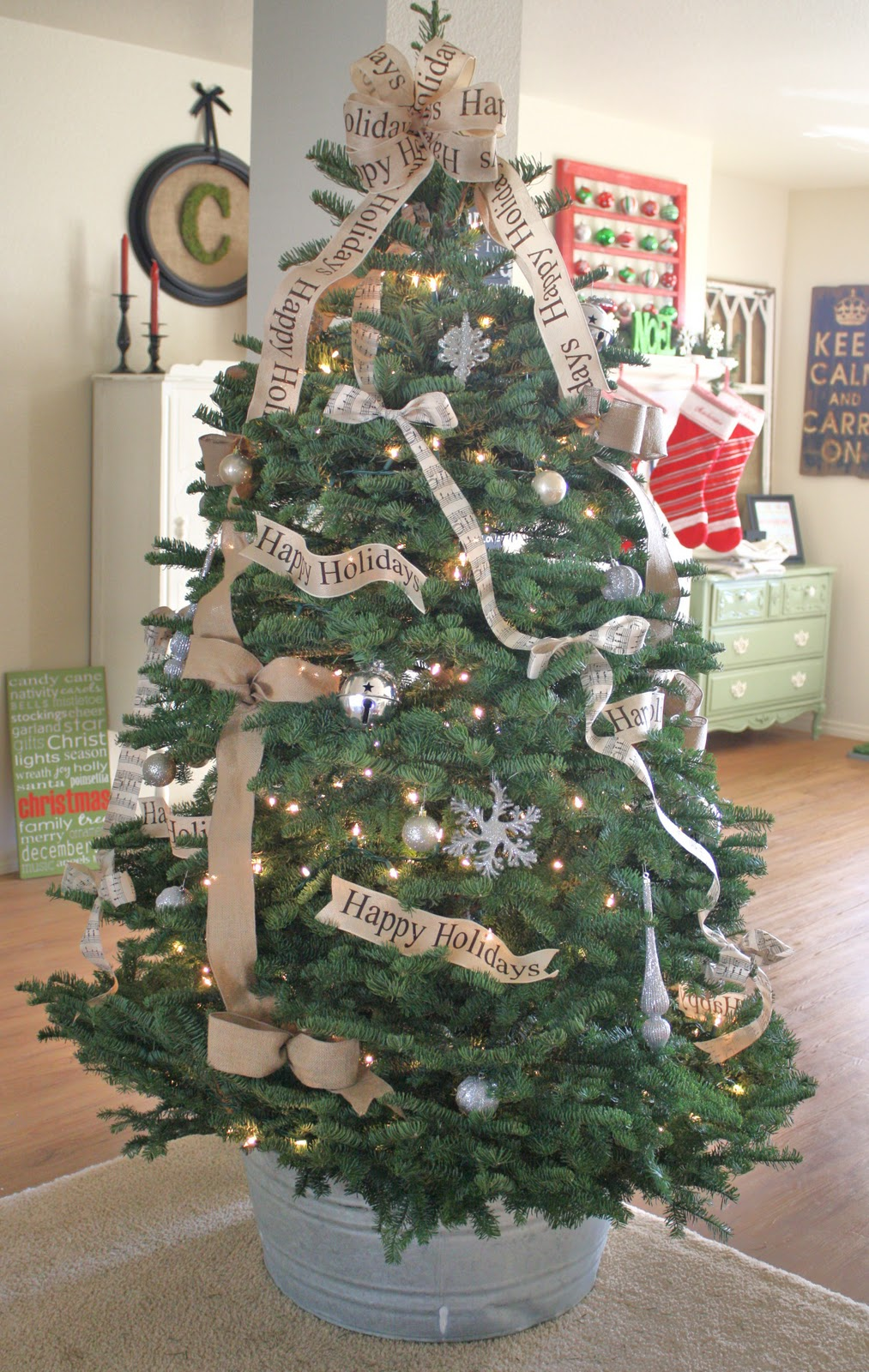 christmas tree decorations with bows photo4
