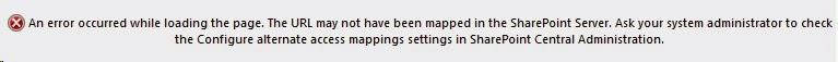 CRM11 Alternate Access mapping error