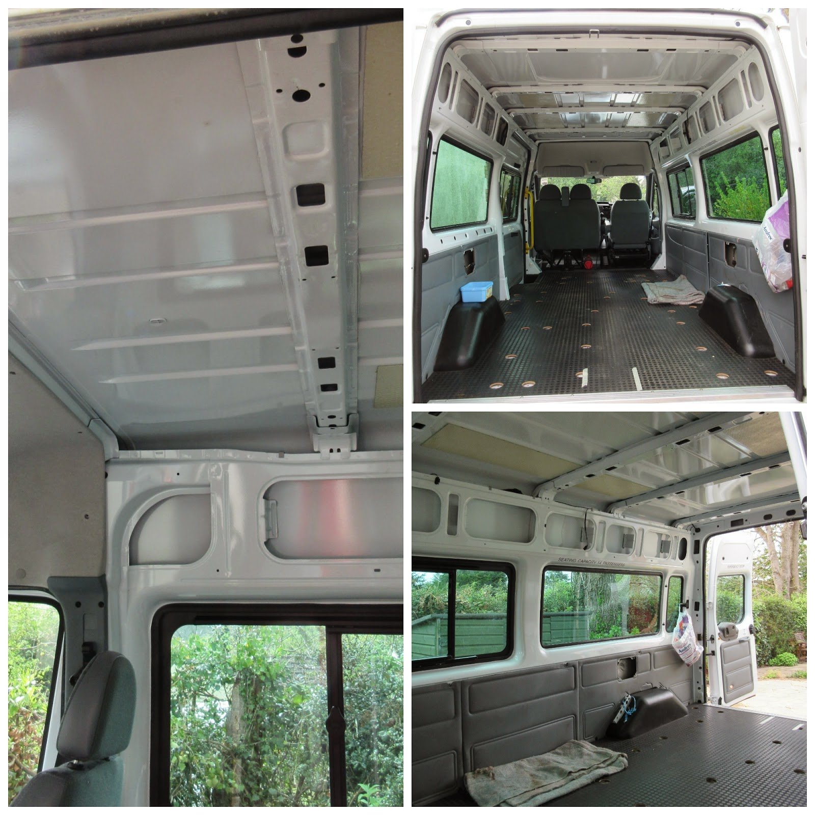 Conversion of van to camper van