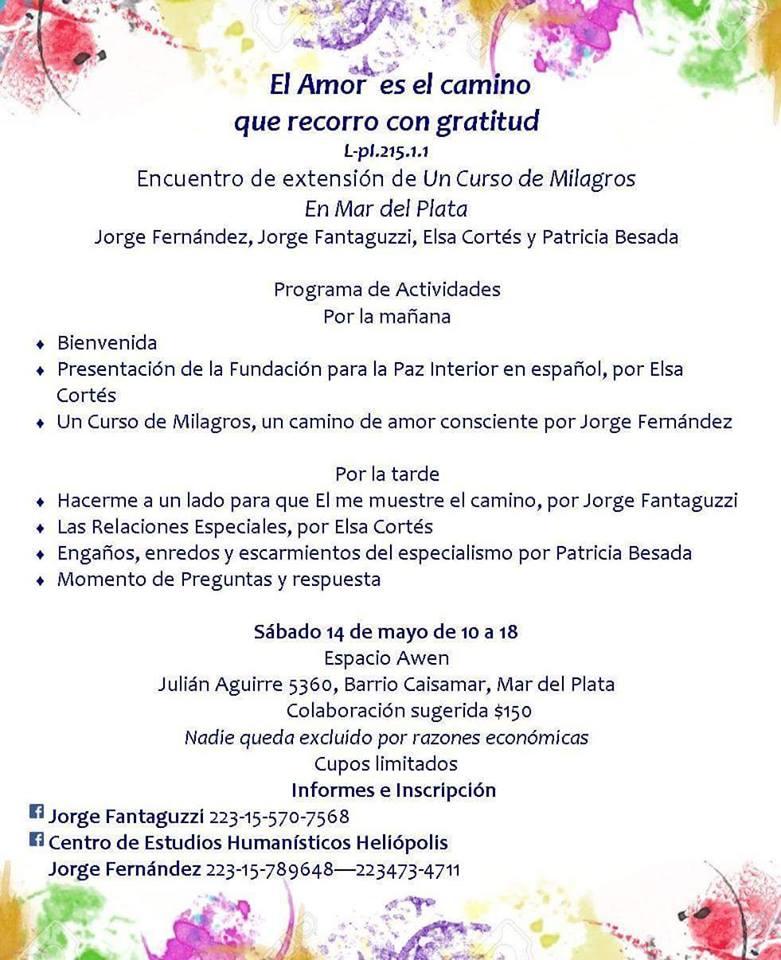 Jornada de UCDM en Mar del Plata