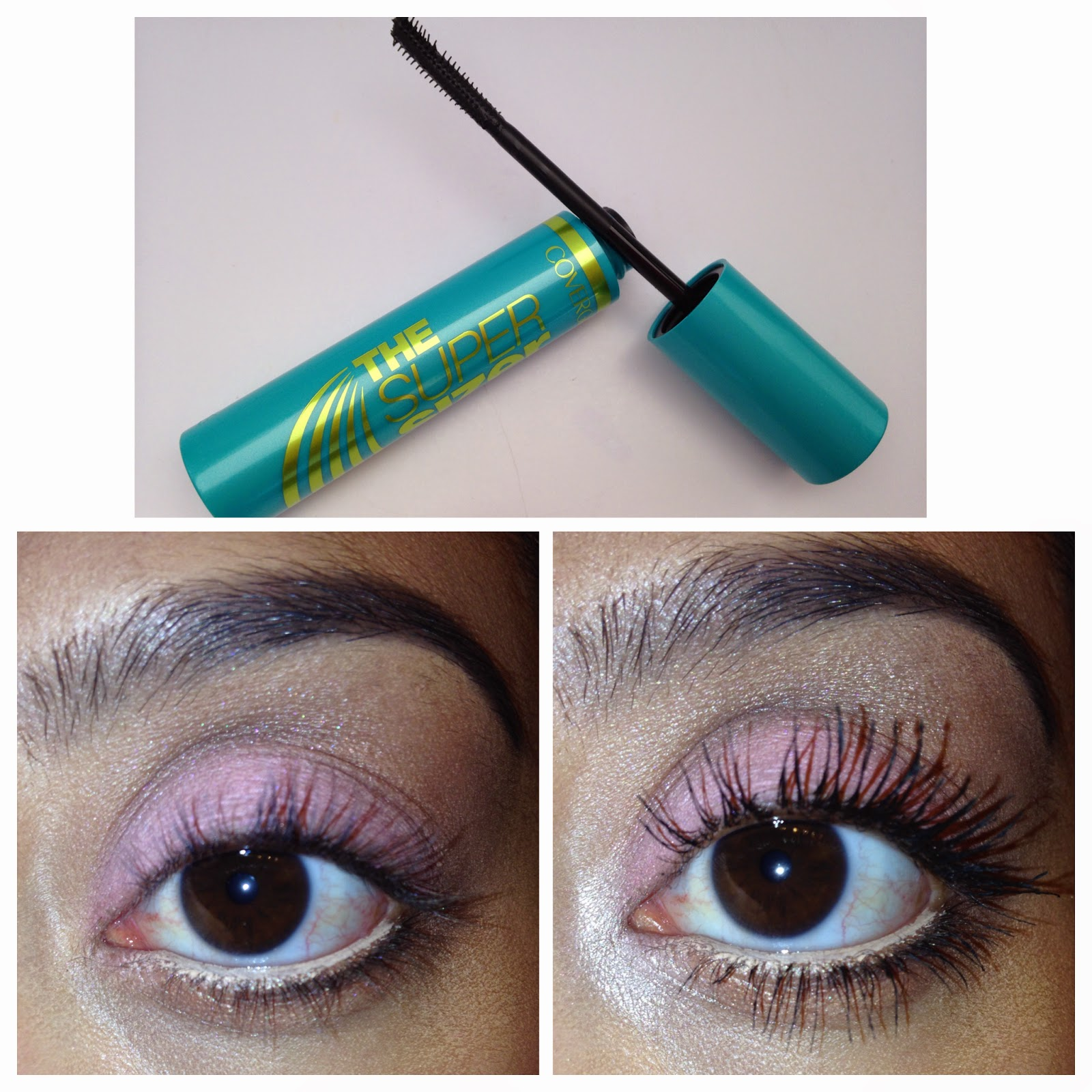 Covergirl The Super Sizer Mascara on lashes