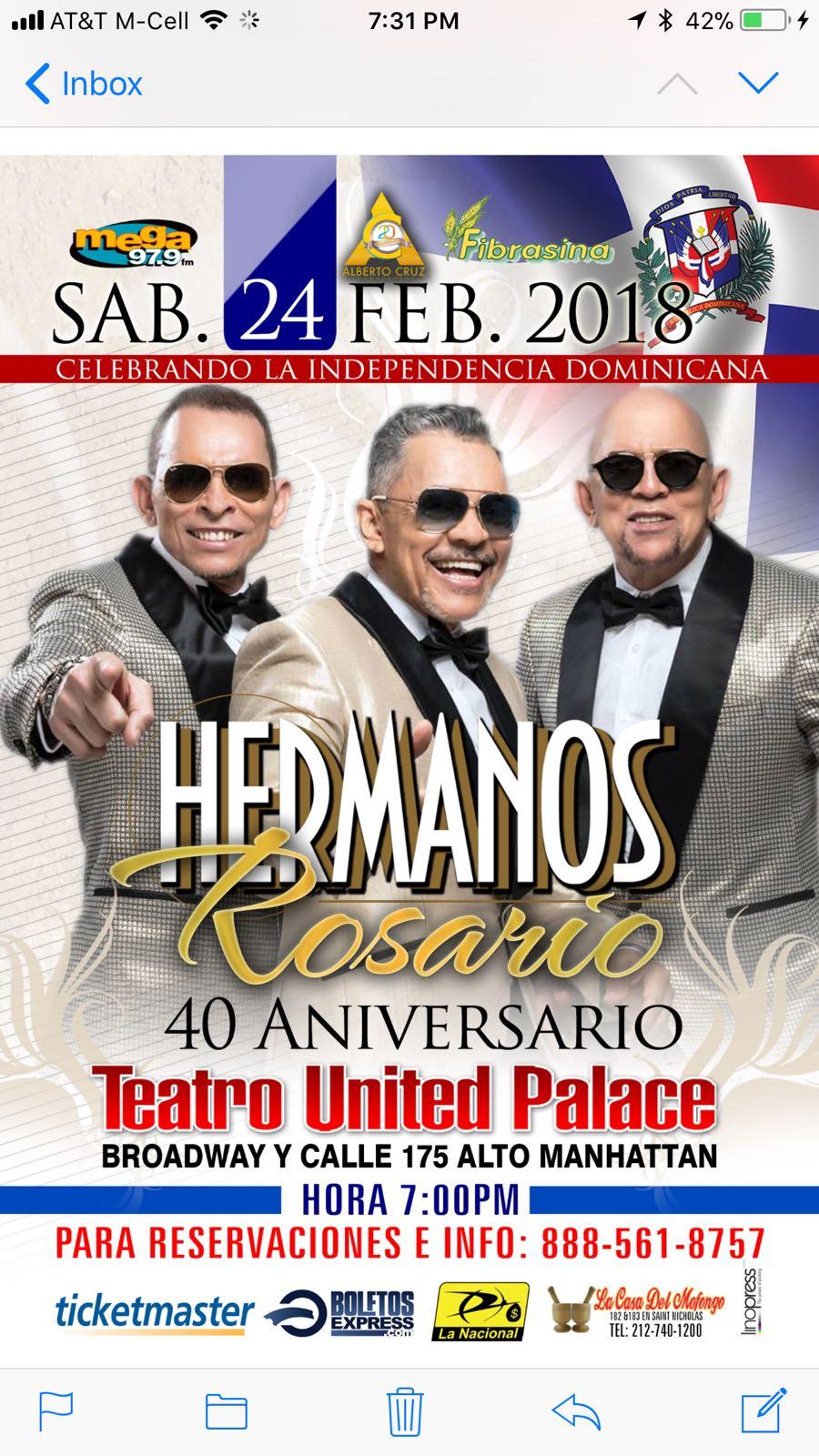 40 ANIVERSARIO DE LOS HERMANOS ROSARIO