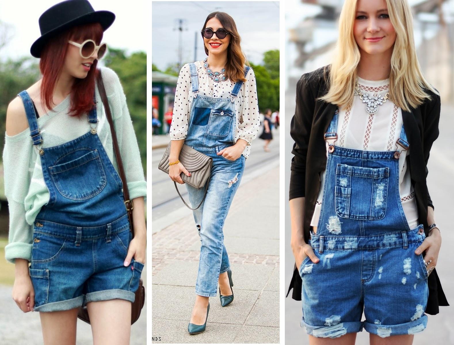 moda verão 2014 macacão jeans
