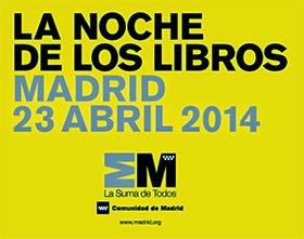 Noche de los Libros en Madrid 23 de Abril de 2014