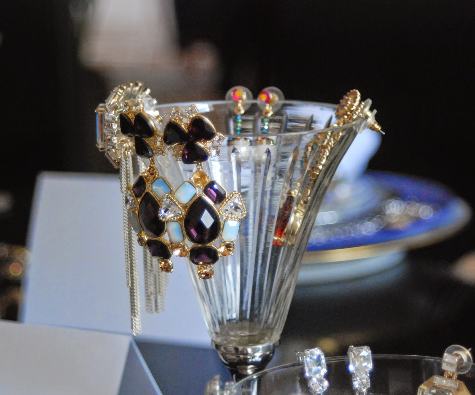 jewellery on glass from QVC event/madmumof7