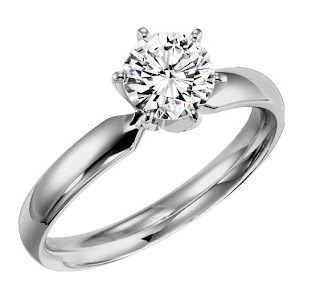 Amidon Jewelers diamond solitaire ring 6 prong in white gold