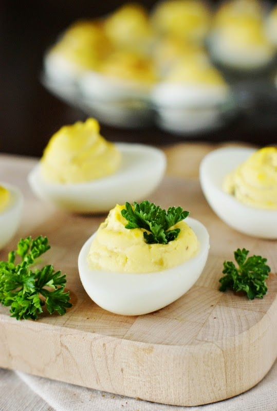 Deviled Egg Garnishes ~ Curly Parsley