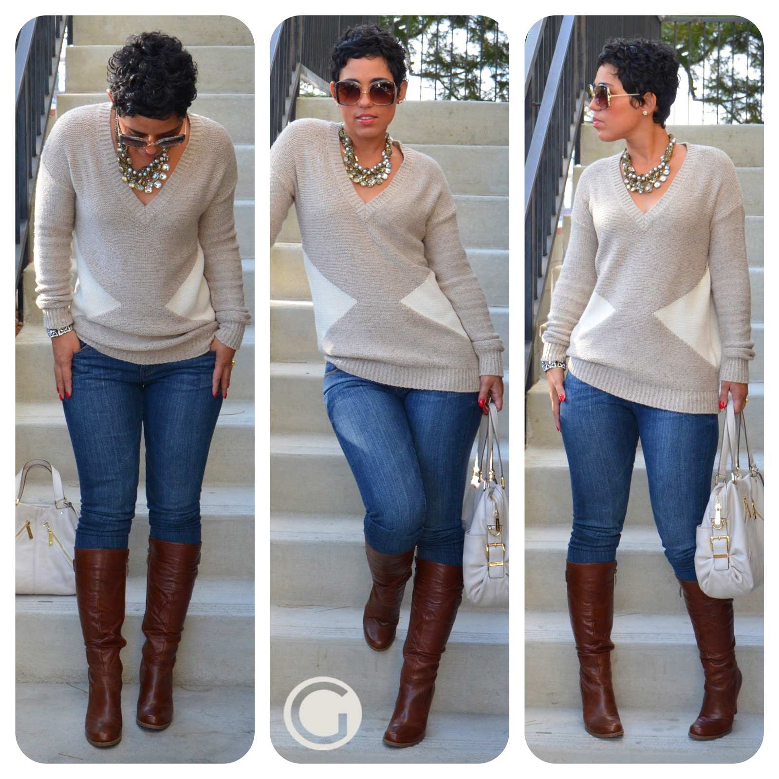 OOTD: Sweater + Boots w/ Chloe & Isabel |Fashion ...