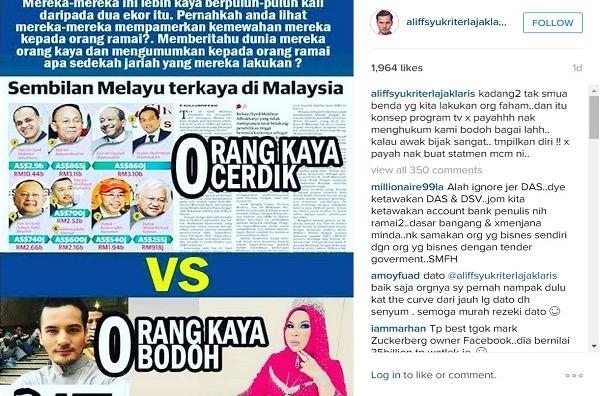Dilabel 'Orang Kaya Bodoh', Datuk Aliff Syukri Mengamuk