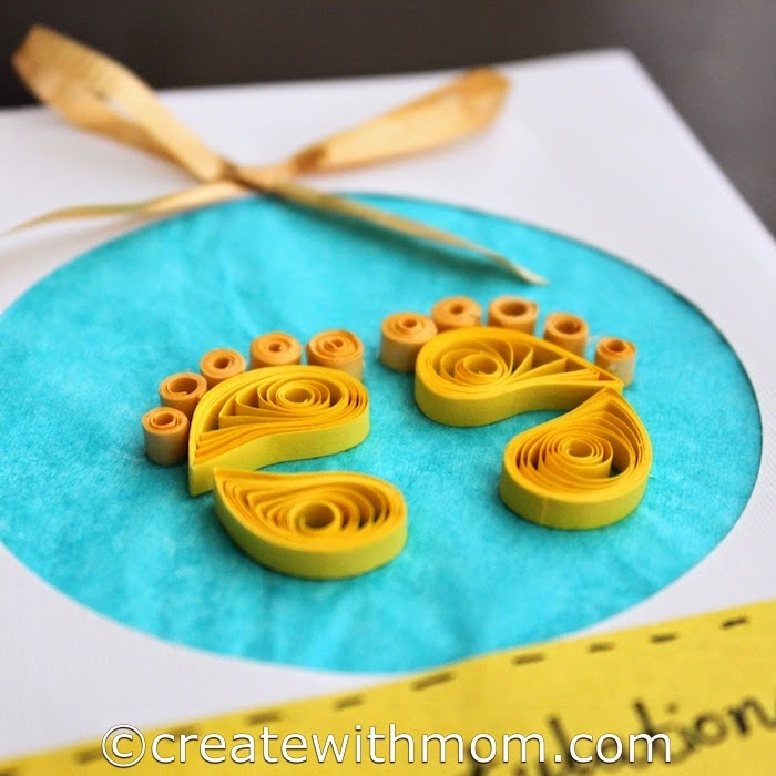 Create with mom making a newborn quilled card and learning about making a newborn quilled card and learning about making greeting cards m4hsunfo